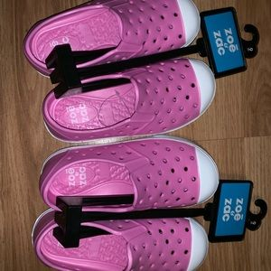 New Zoe & Zac 2 Pack Toddler Clogs Pink Size 9